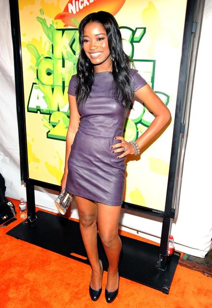 True Jackson, VP star Keke Palmer was pretty in purple. Hard to believe the actress is only 15!