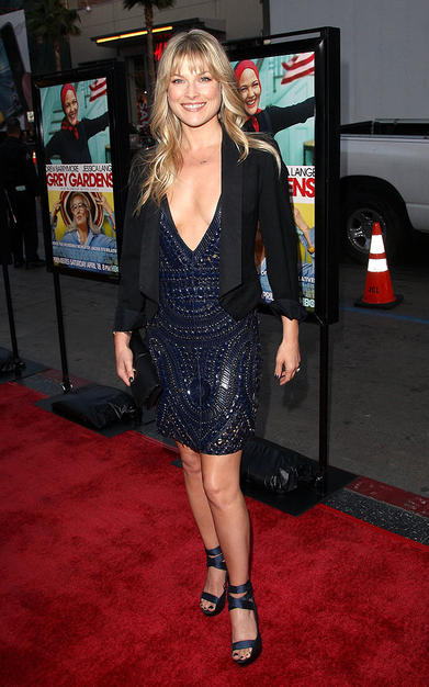 """Obsessed"" star Ali Larter dared to bare all in this plunging v-neck dress. If you've got it, flaunt it!"