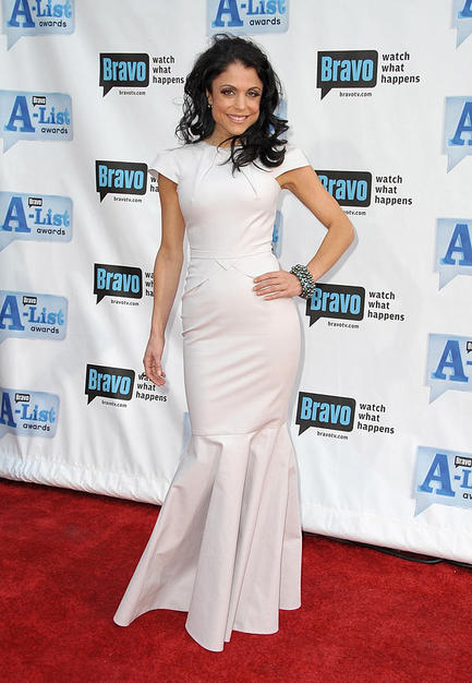 "The wind wreaked havoc with Bethenny Frankel's 'do, but that didn't stop the ""Real Housewife"" from flaunting her flawless frame in a dove gray Roland Mouret gown at the 2nd Annual Bravo A-List Awards."