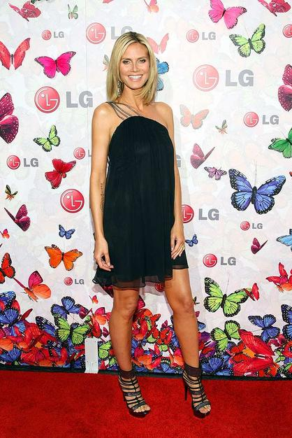 Heidi Klum served as host for the evening. She definitely had that mom-to-be glow!
