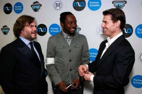 Jack Black, will.i.am, and Tom Cruise joined forces Thursday night to raise money and awareness for MLA Partner Schools. The non-profit organization works to improve schools in some of the most disenfranchised communities in Los Angeles.