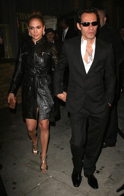 "Jennifer Lopez and Marc Anthony were spotted leaving the Topshop opening party in New York City Thursday night. When asked by Us Magazine if their relationship was going strong, March said, ""I think so."" Added JLo, ""Yes."""