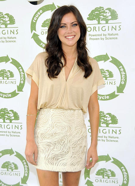 Chace's fellow CW star Jessica Stroup attended the kick-off of The Return to Origins Recycling Program on Thursday. Consumers across the country can bring emptied cosmetics from any brand into their local Origins store for recycling.