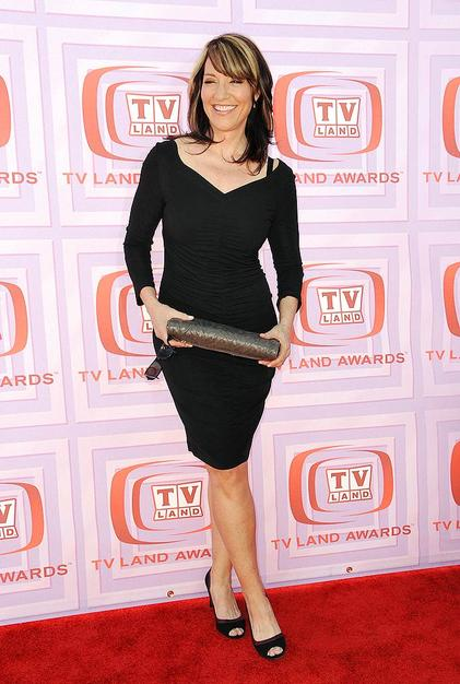 """""""Married ... With Children"""" mom Katey Sagal looked flawless for 55 in a hip-hugging LBD, cute heels, and bright smile at the 7th Annual TV Land Awards."""