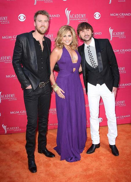 Rising stars Lady Antebellum were all smiles as they hit the red carpet at the MGM Grand.