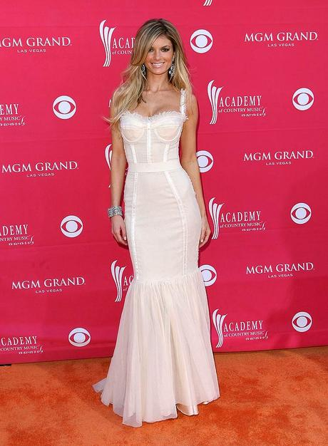 Victoria's Secret model Marisa Miller hit the mark in a modified Dolce & Gabbana Spring '09 corset gown at this year's ACM Awards.