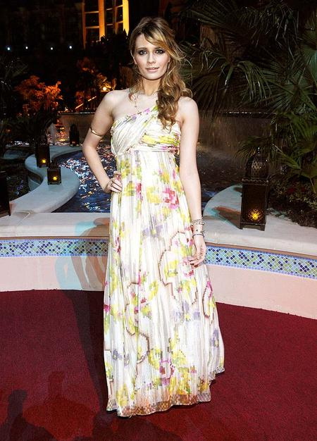 Talk about a desert rose! Mischa Barton donned this pastel print for the opening of Atlantis, the Palm Resort in Dubai.