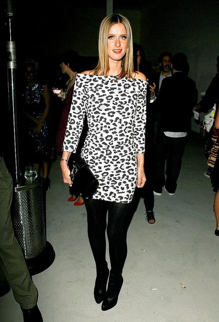Nicky Hilton is a wild woman in this cheetah print.