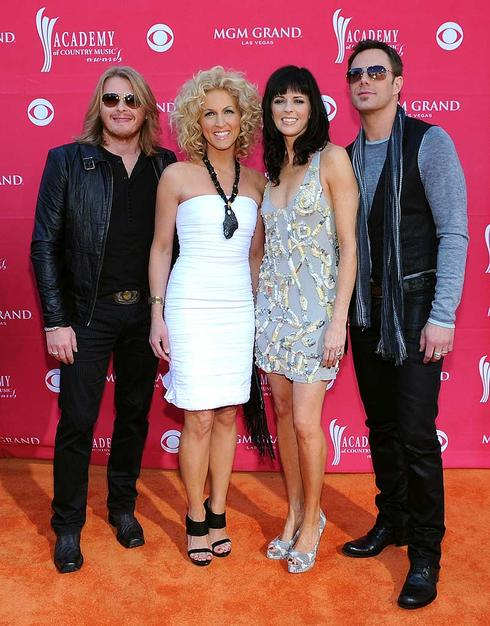 Little Big Town's Phillip Sweet, Karen Fairchild, Kimberly Roads, and Jimi Westbrook looked ready for a night out in Vegas, but not necessarily an awards show!