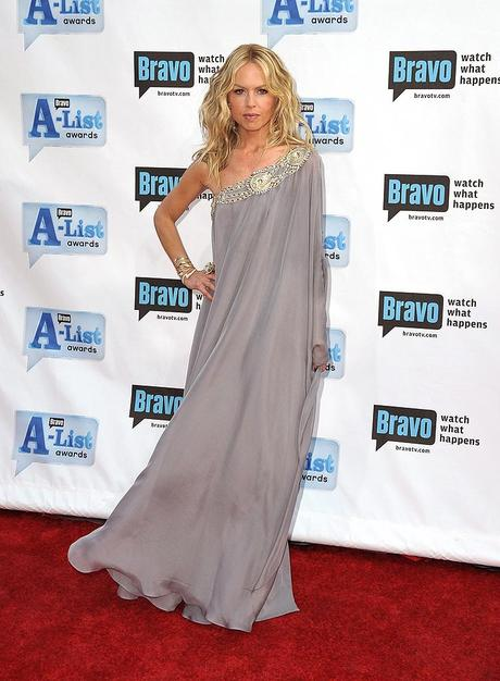 A-list designer Rachel Zoe went the predictable route with this shapeless caftan.