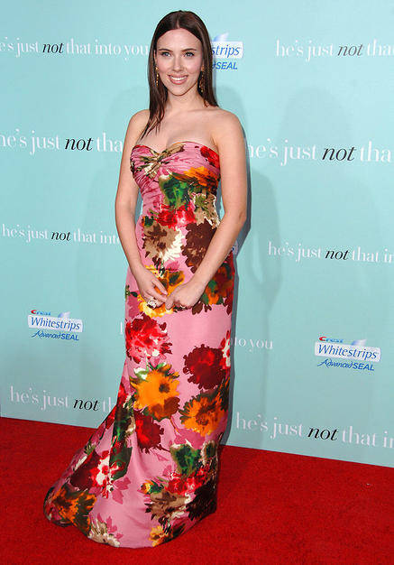 There are pretty floral dresses, and others that make our eyes wilt, like Scarlett Johansson's curtain-like couture.