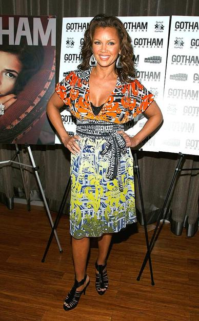"Vanessa Williams arrived at the fete in a bold print. In addition to playing the villainous Wilhemina Slater on ""Ugly Betty,"" Vanessa also stars in the upcoming ""Hannah Montana"" movie."