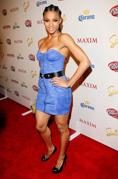 Ciara sported cornrows for the event. The R&B siren came in at no. 32 on Maxim's Hot 100 list.