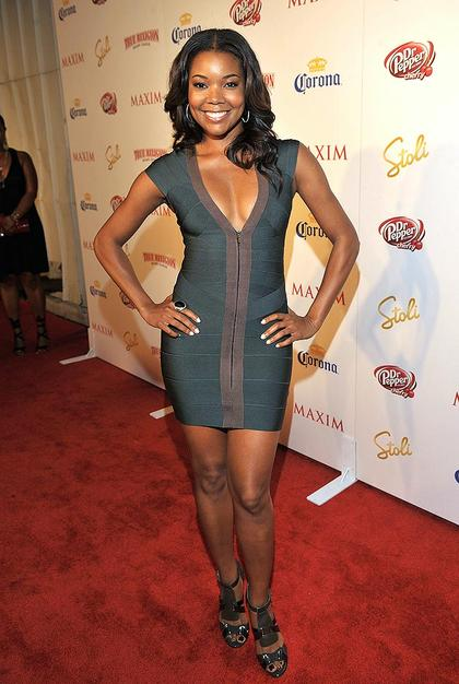 Gabrielle Union slinked her way down the red carpet in a Herve Leger dress. The actress came in at no. 71.