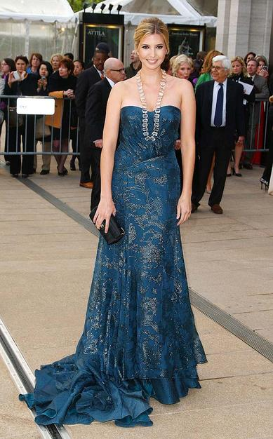 Ivanka Trump was the epitome of elegance in her embroidered dress.