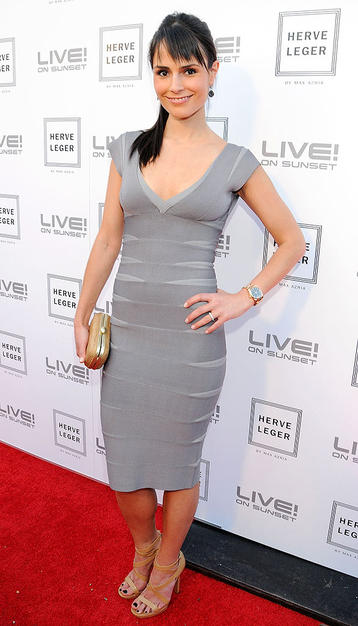 We're not sure how Jordana Brewster or any of the other girls managed smiles in these super-tight dresses!