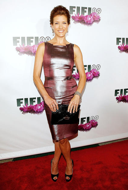 Kate Walsh showed who's boss in this Hugo Boss frock.