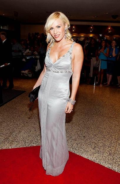 Natasha Bedingfiled dazzled in a sparkling silver dress.