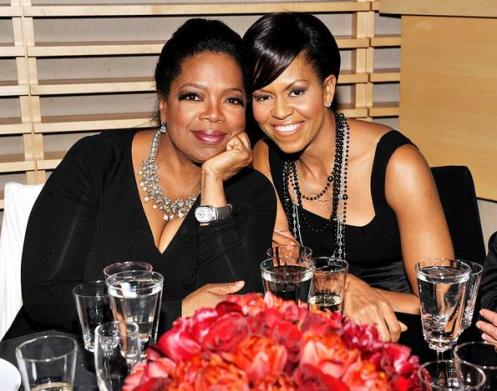 Oprah Winfrey and First Lady Michelle Obama shared a smile at Time's 100 Most Influential People in the World Gala in New York City. Oprah is the only person to appear on the annual list every year since its inception.