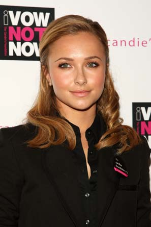 Panettiere makes this half-up, half-down hairdo look low-maintanence and lovely