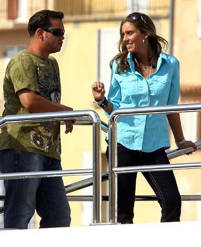 Jon Gosselin and Hailey Glassman take in the St. Tropez scene.