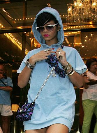 Rihanna rocks a hooded sweatshirt while out and about in New York. She looks good in just about anything, this girl.