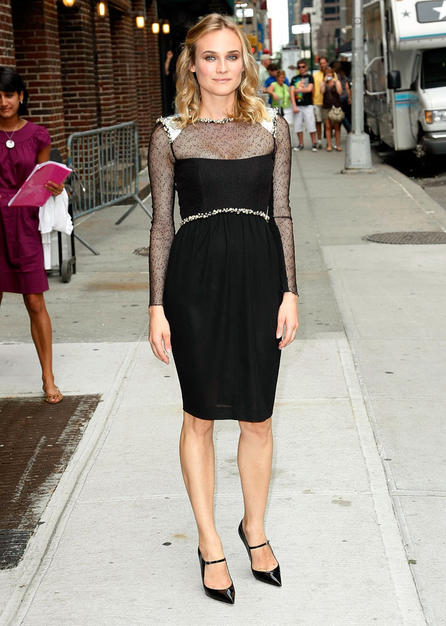 German-born beauty Diane Kruger, who continued to impress in a chic, bedazzled Chanel creation and Jimmy Choo stilettos.