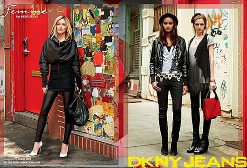 Hilary Duff in a new ad for DKNY jeans. She's become quite a mogul, this girl.